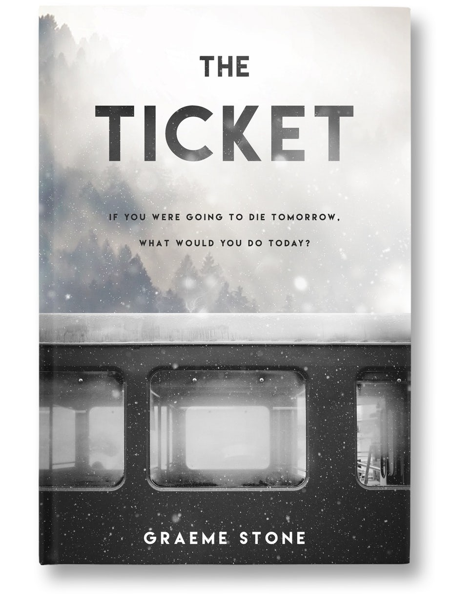 book cover design for The Ticket by Graeme Stone