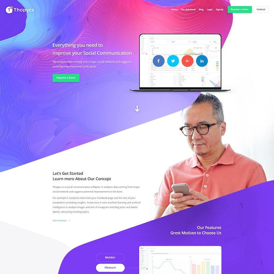 A web page design