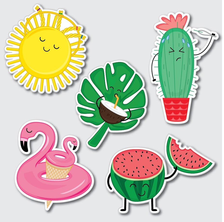 Summer stickers
