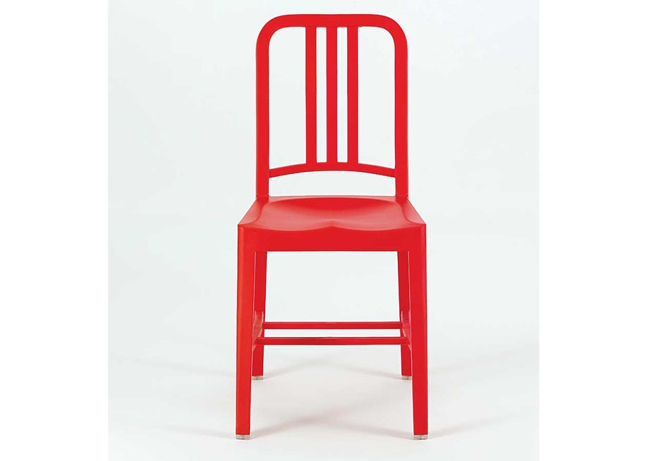 111 Navy Chair made of recycled PET bottles