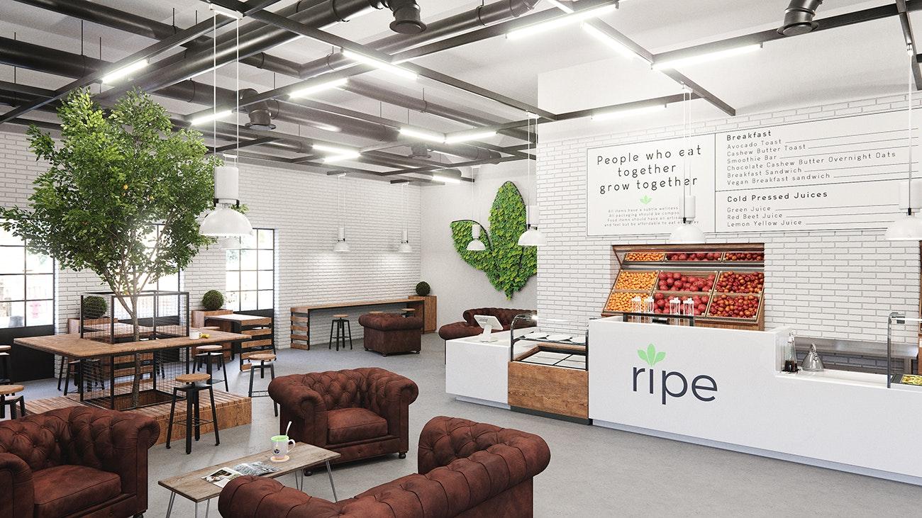 cafe 3d design