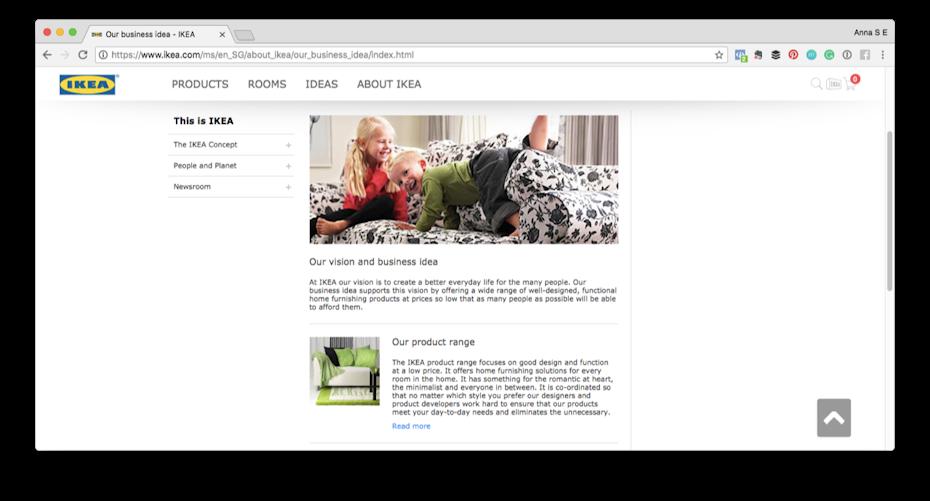 IKEA visión e idea de negocio