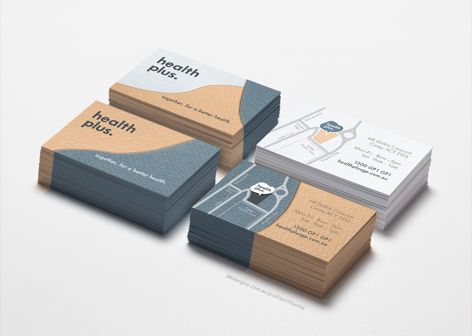 How to design a business card the ultimate guide 99designs modern business card by illustira friedricerecipe Gallery