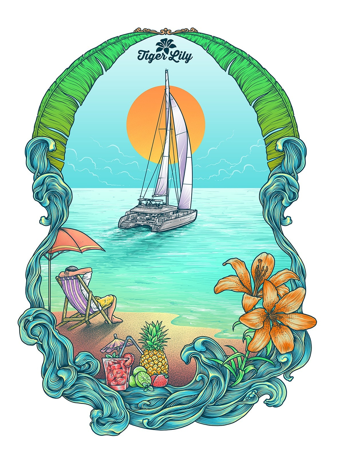 beach illustration