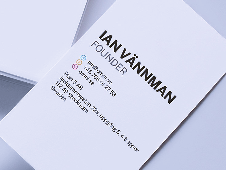 Omni business card design