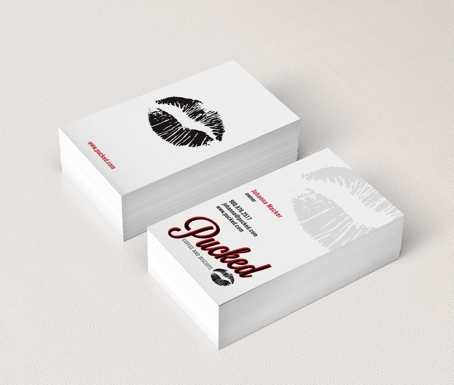 How to design a business card the ultimate guide 99designs pucked business card design reheart Images