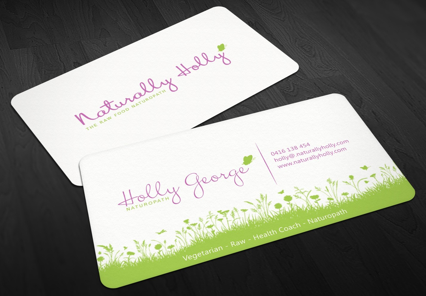 Holly George business card