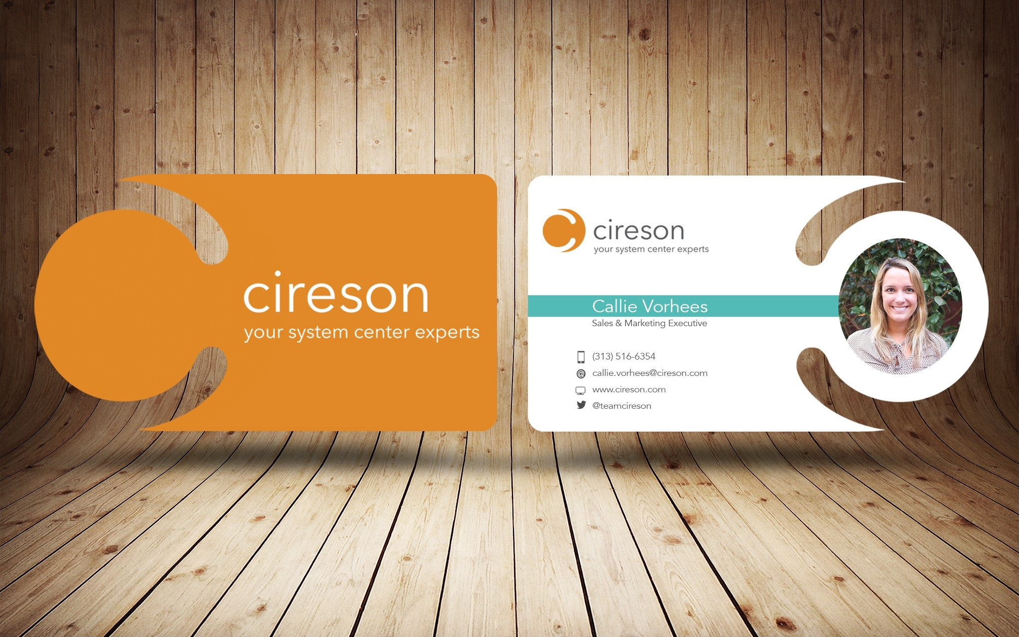 Cireson business card design