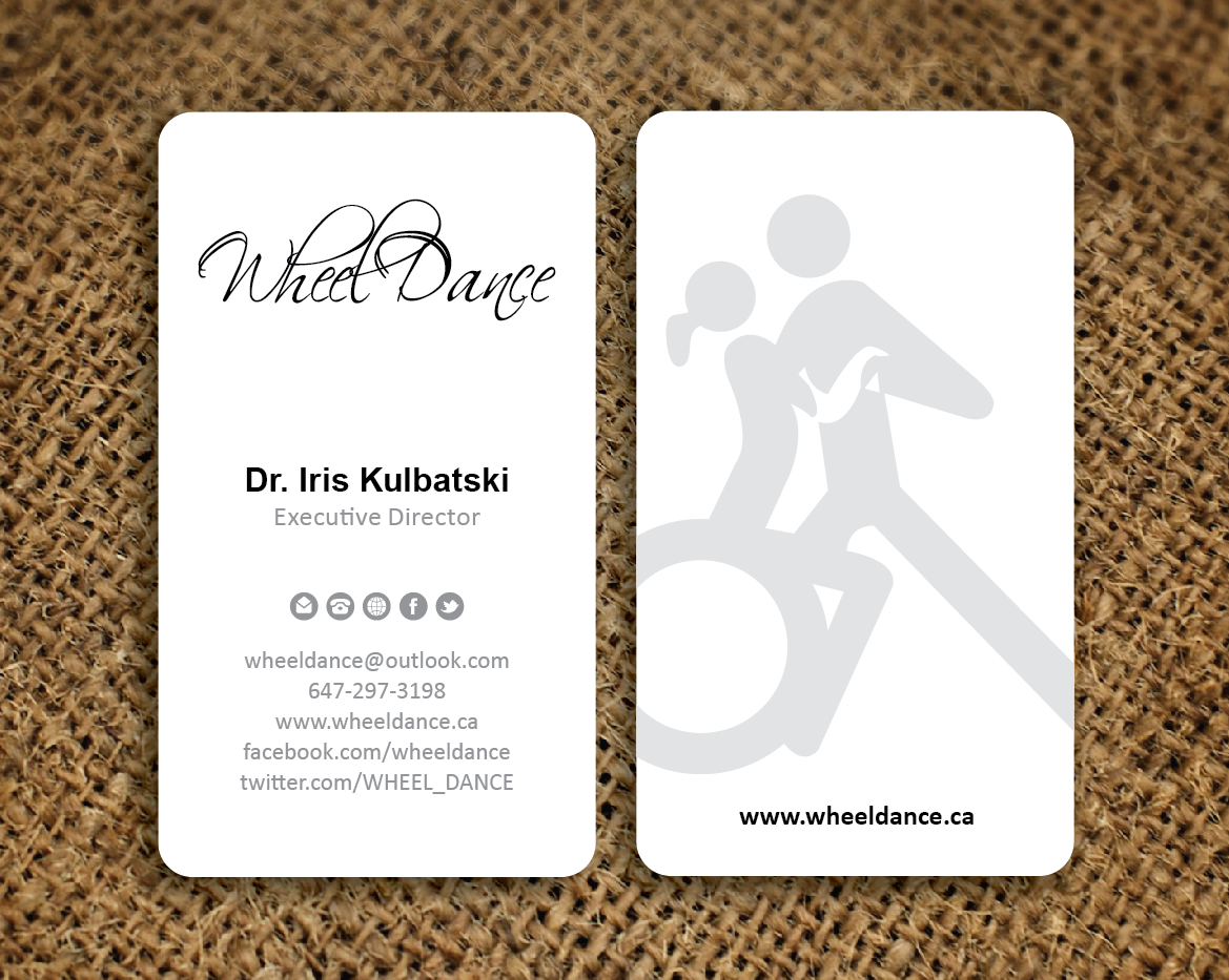 Wheel Dance business card design