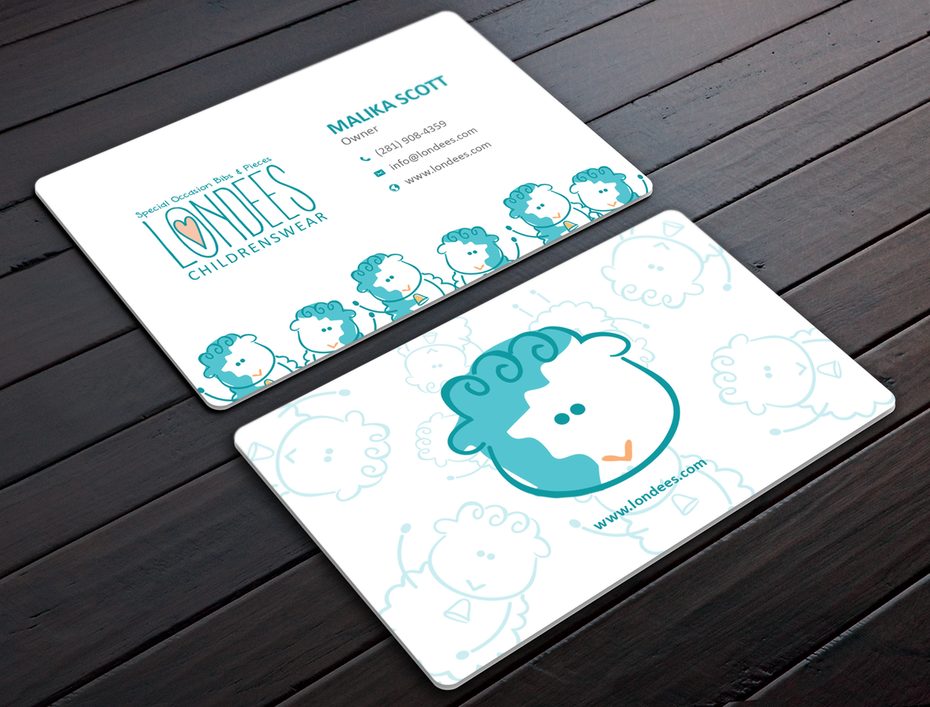 How to design a business card the ultimate guide 99designs londees childrenswear business card design reheart Gallery