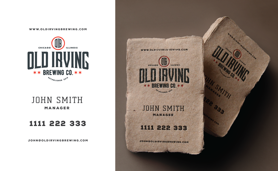 Old Irving Brewing Co. business card