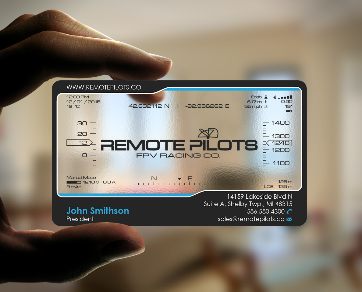 Remote Pilots business card design