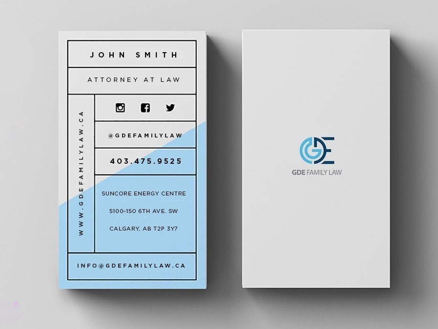 clean and structured business card design