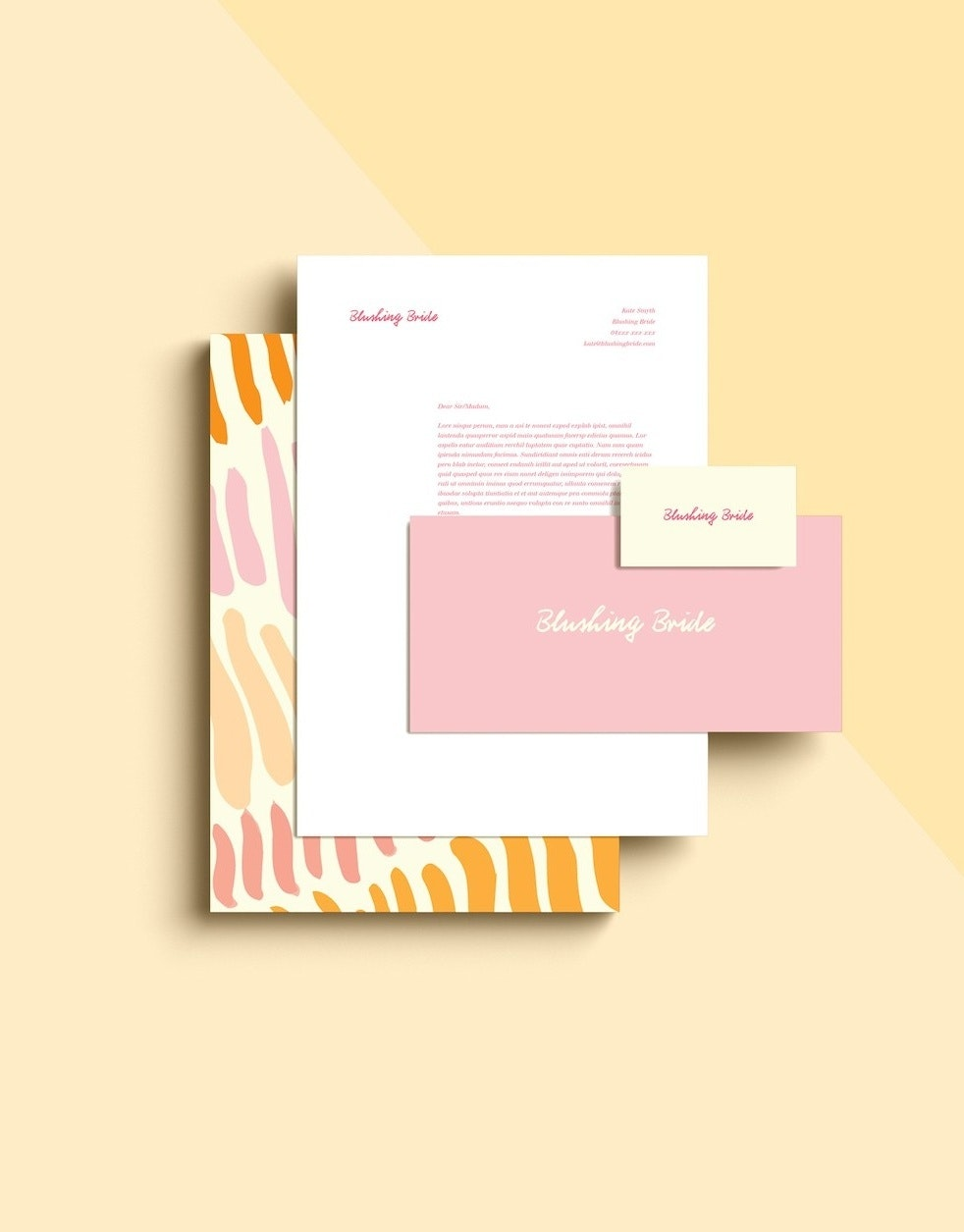 fun pastel brand design