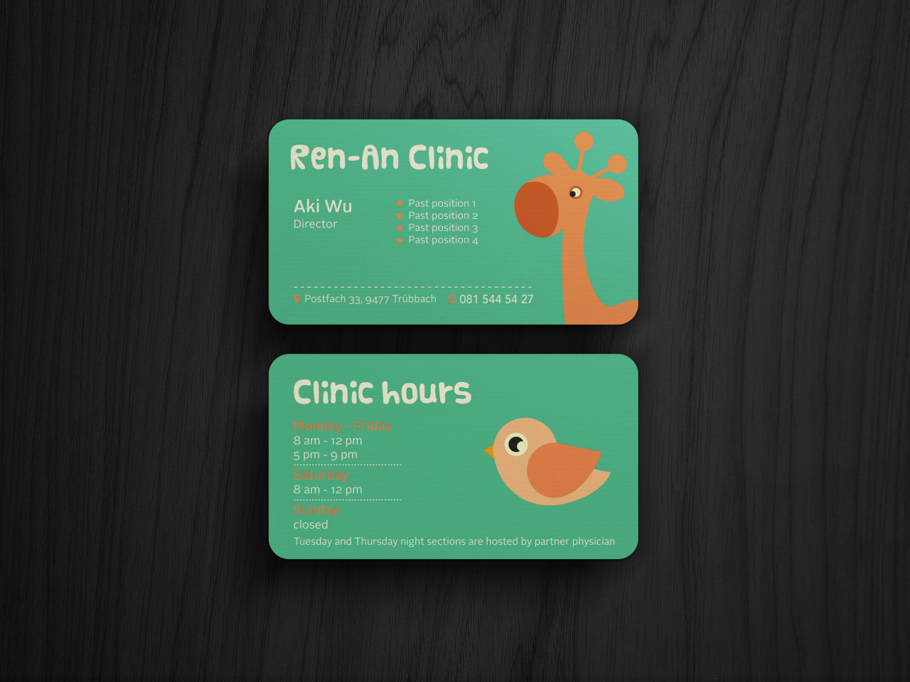 Ren-an Clinic business card