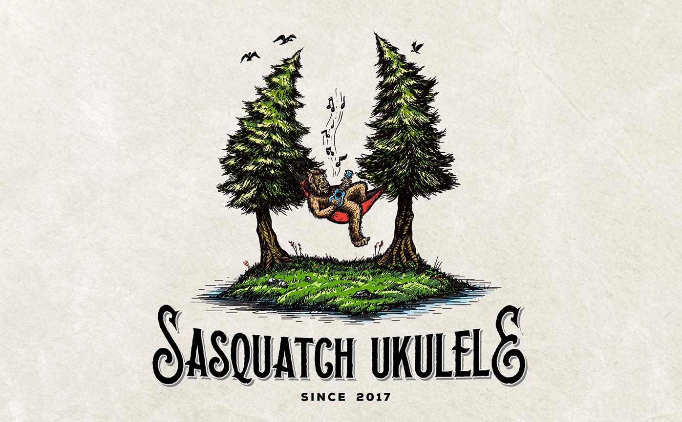sasquatch ukulele logo