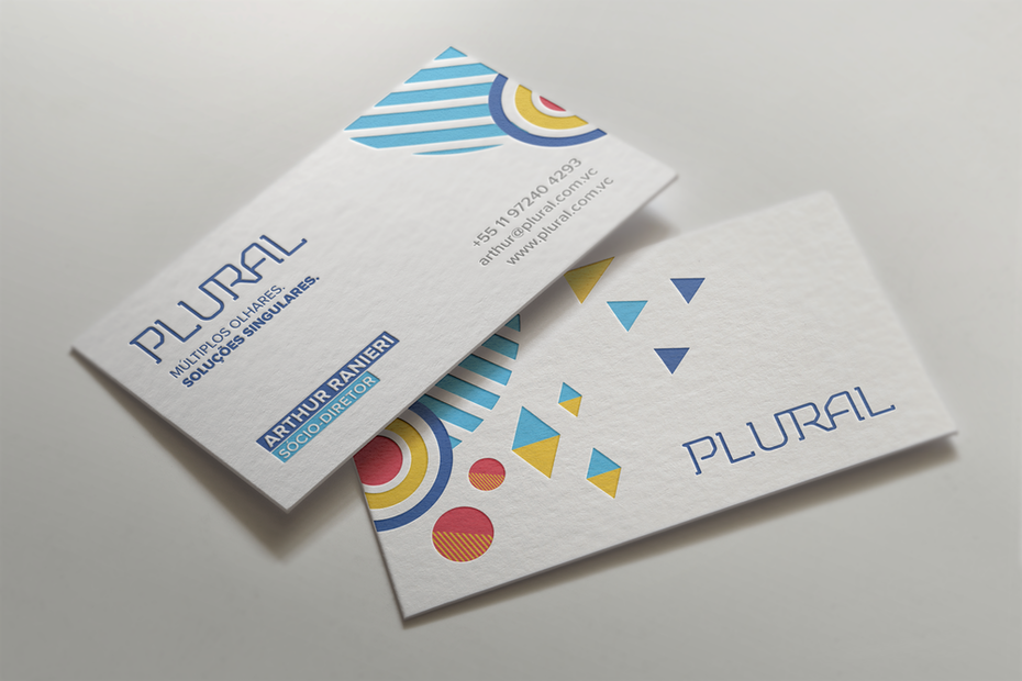 Geometric Business Card Design Un De Carte Visite