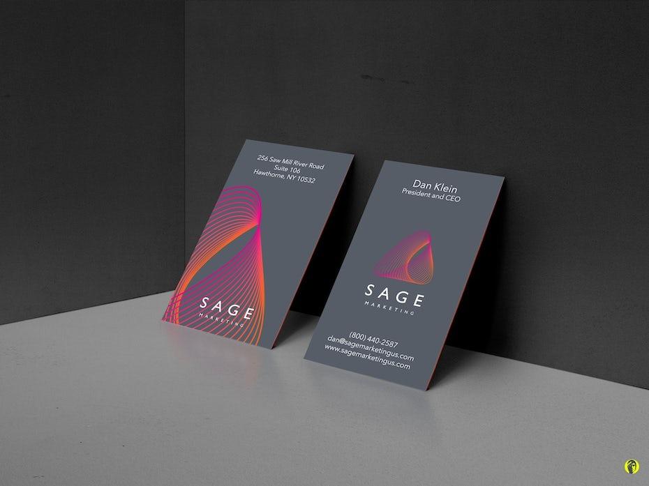 Sage Marketing business card