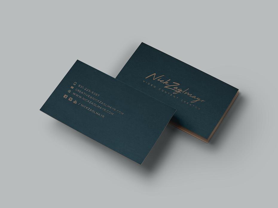 Nick Zaglmayr business card