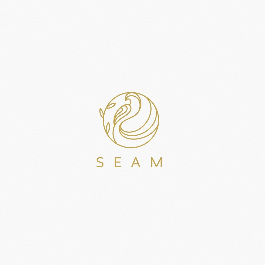 Logo with elegant line work
