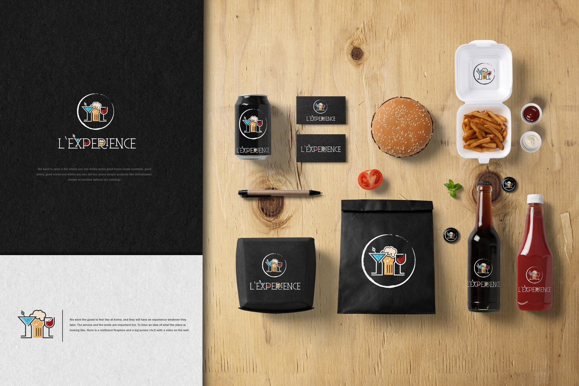 brand identity for L'experience