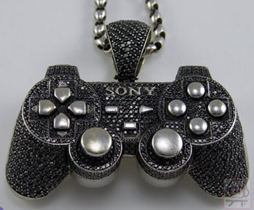 gem-studded Playstation controlled