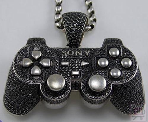 gem-studded Playstation controlled