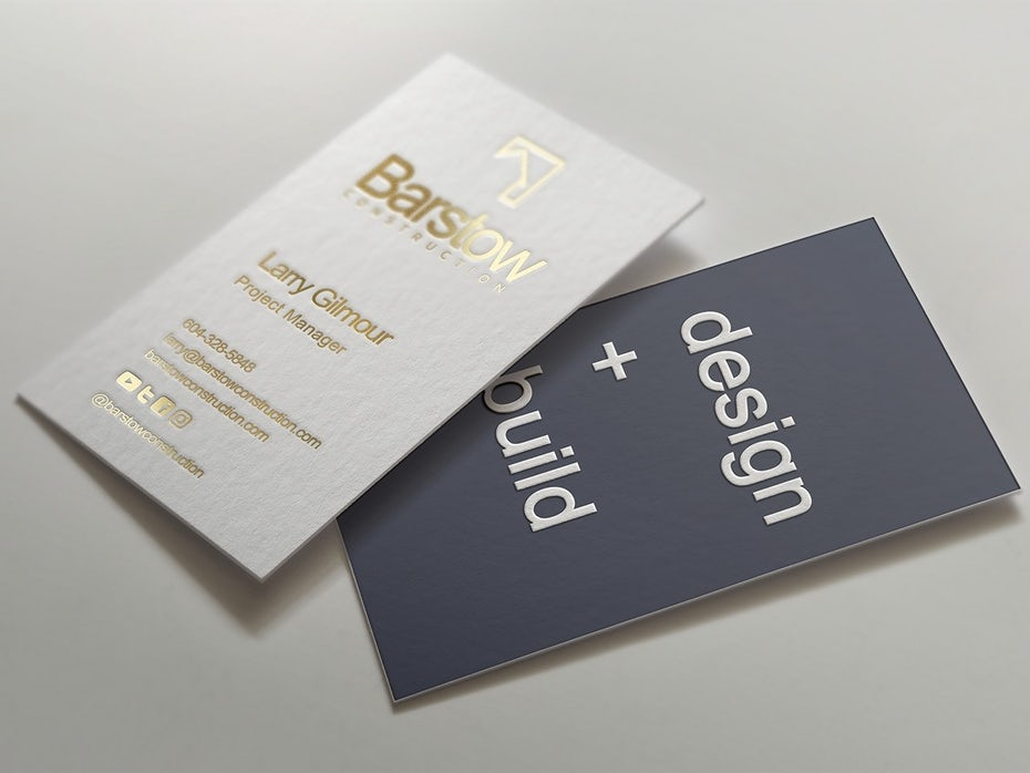 Barstow Construction business card