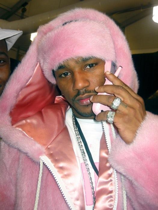 Cam'ron in an all-pink ensemble