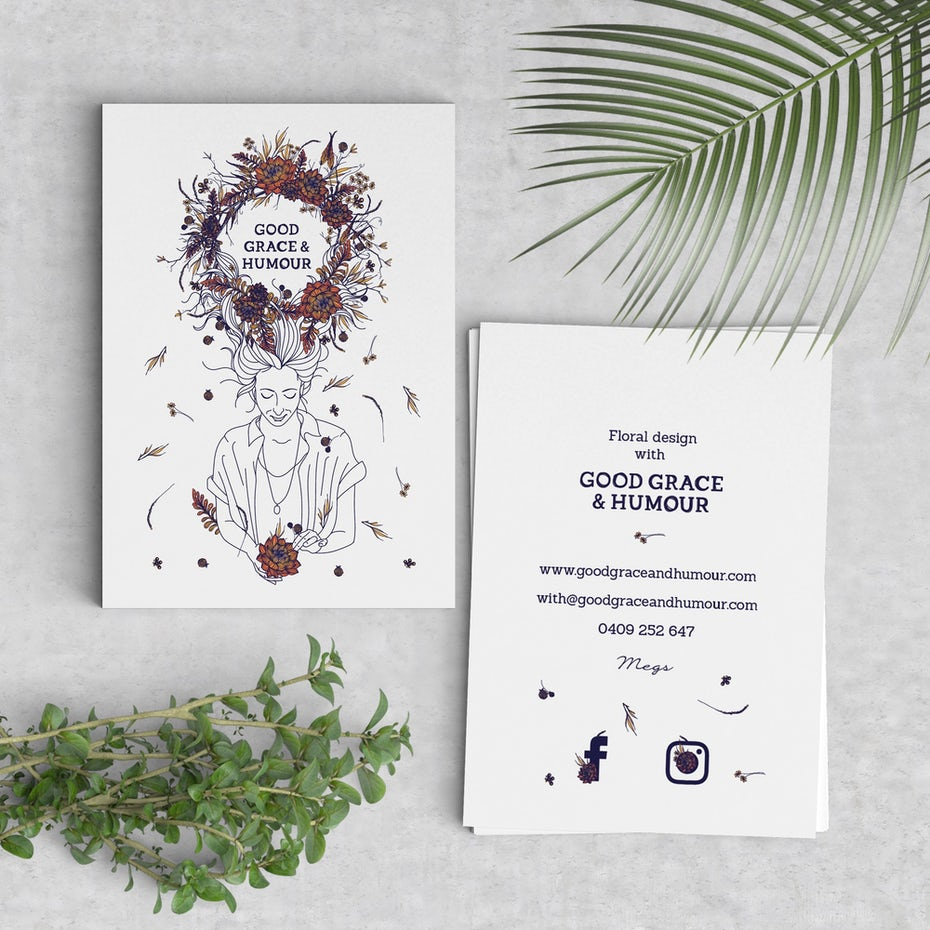 business card for good grace by mad pepper