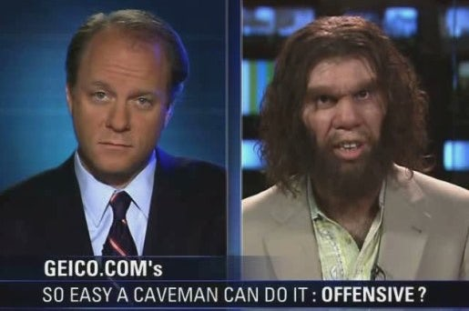 Geico cavemen commercial still