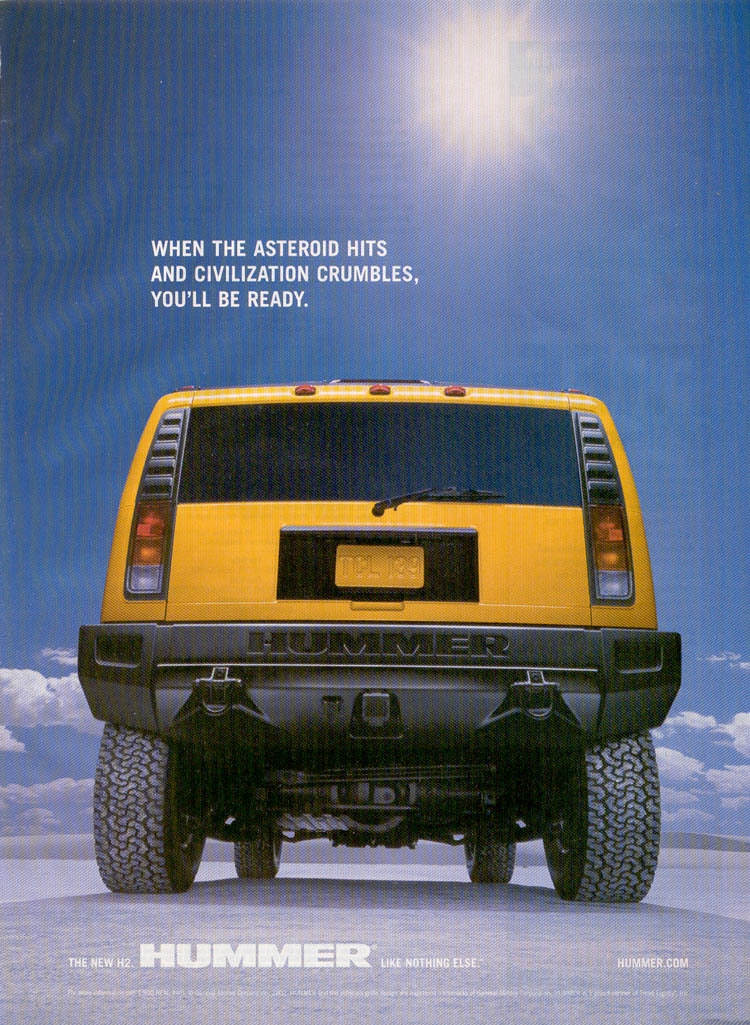 Hummer H2 ad