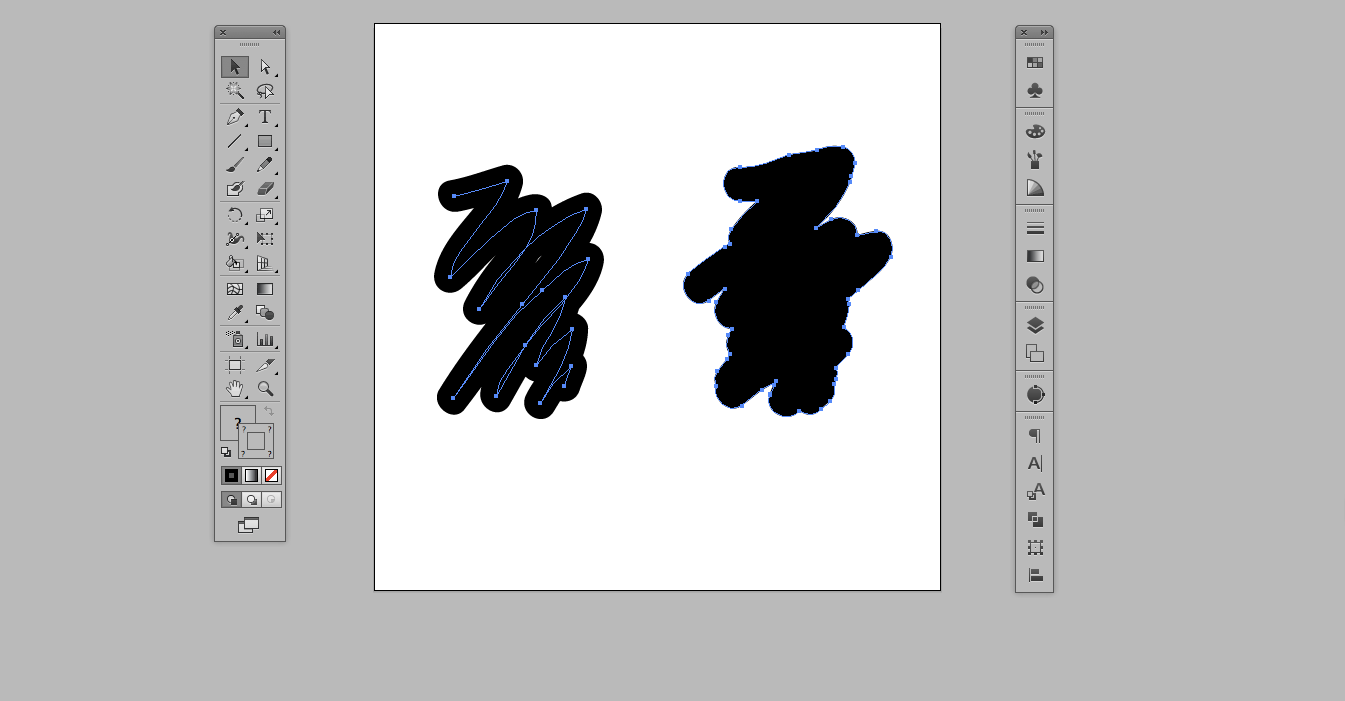 Difference between regular brush and blob brush tool