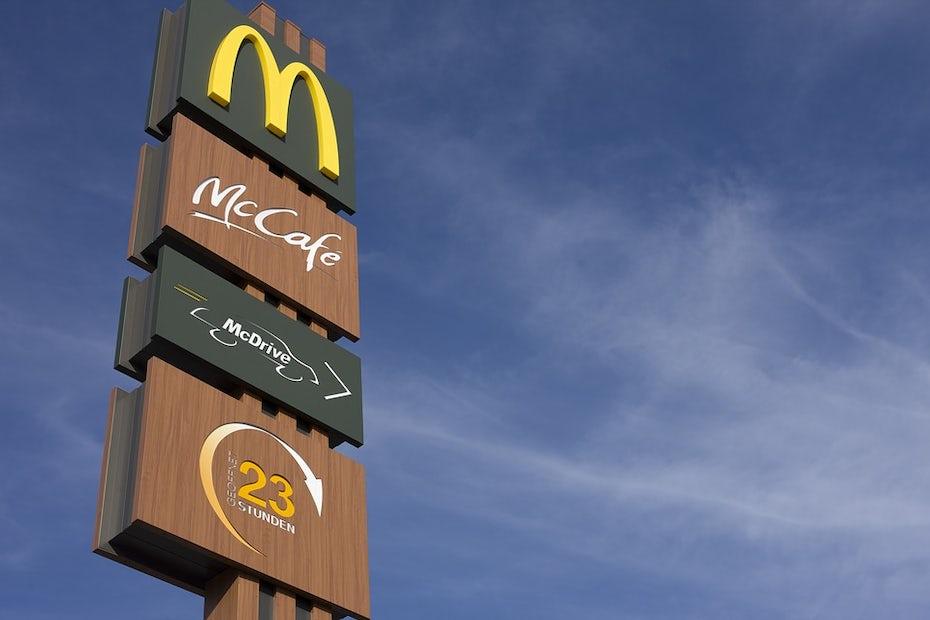 McDonald's signs