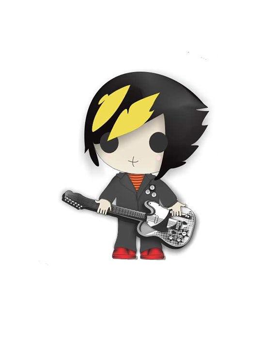 Cartoon punk guitarist