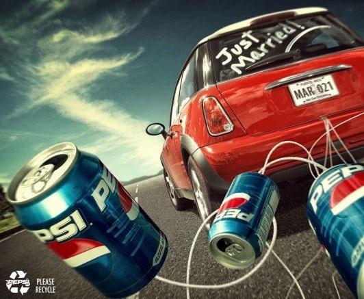 Pepsi ad with Mini Cooper