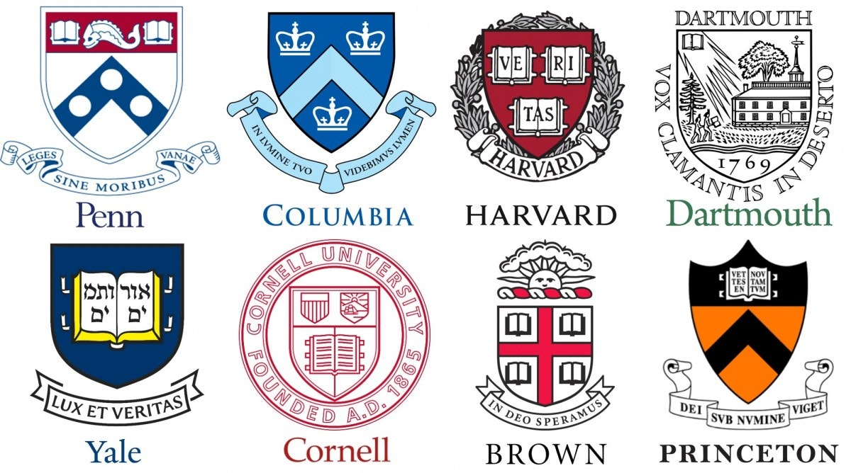 Ivy league school logos