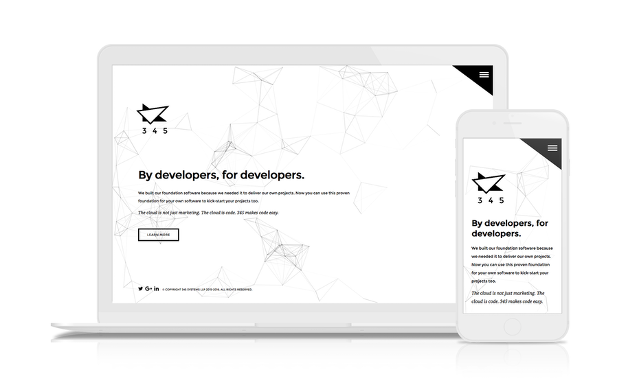 minimalist black and white web design