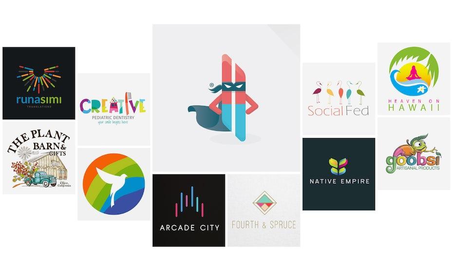 40 farbenfrohe Logos, die heller leuchten als der Regenbogen