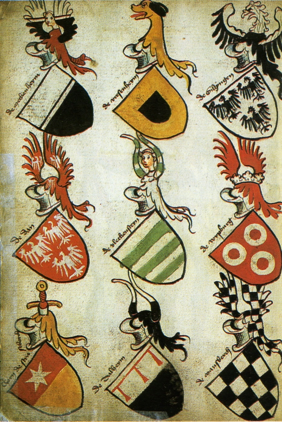 1600s German coats-of-arms