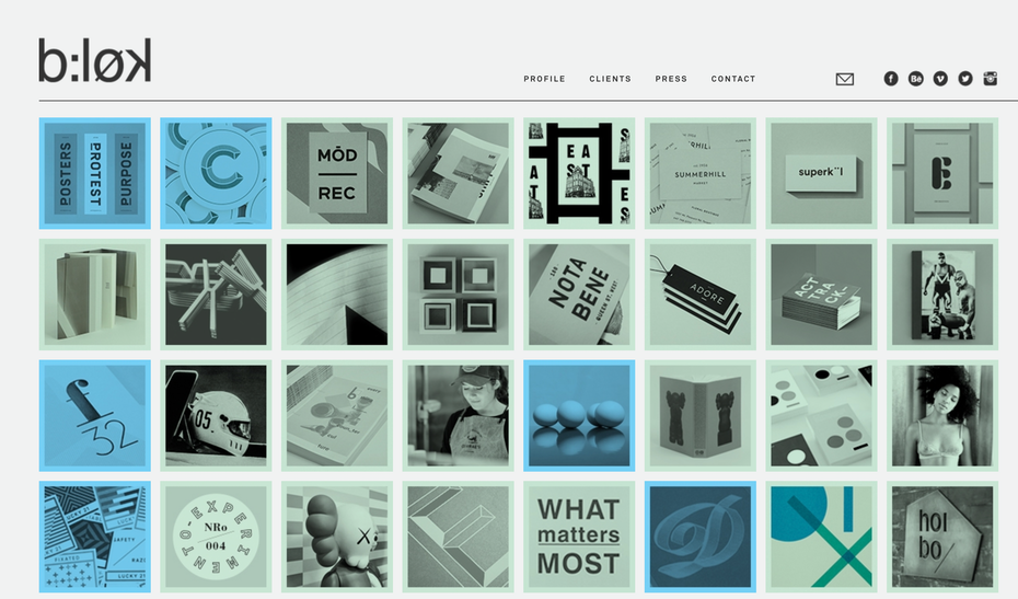 blok design website screenshot