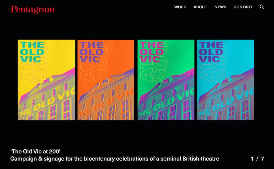 pentagram website screenshot