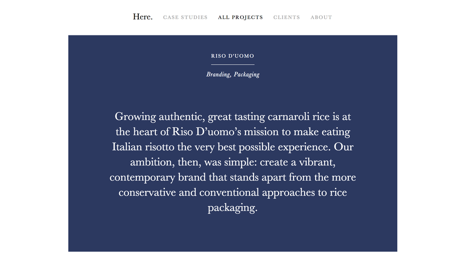 Here Design website screenshot