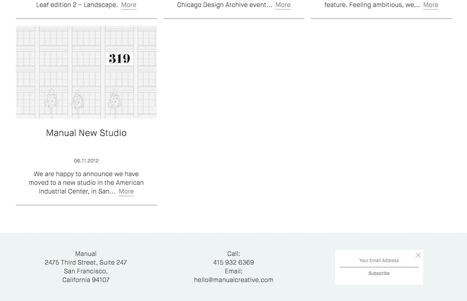 Manual newsletter website screenshot
