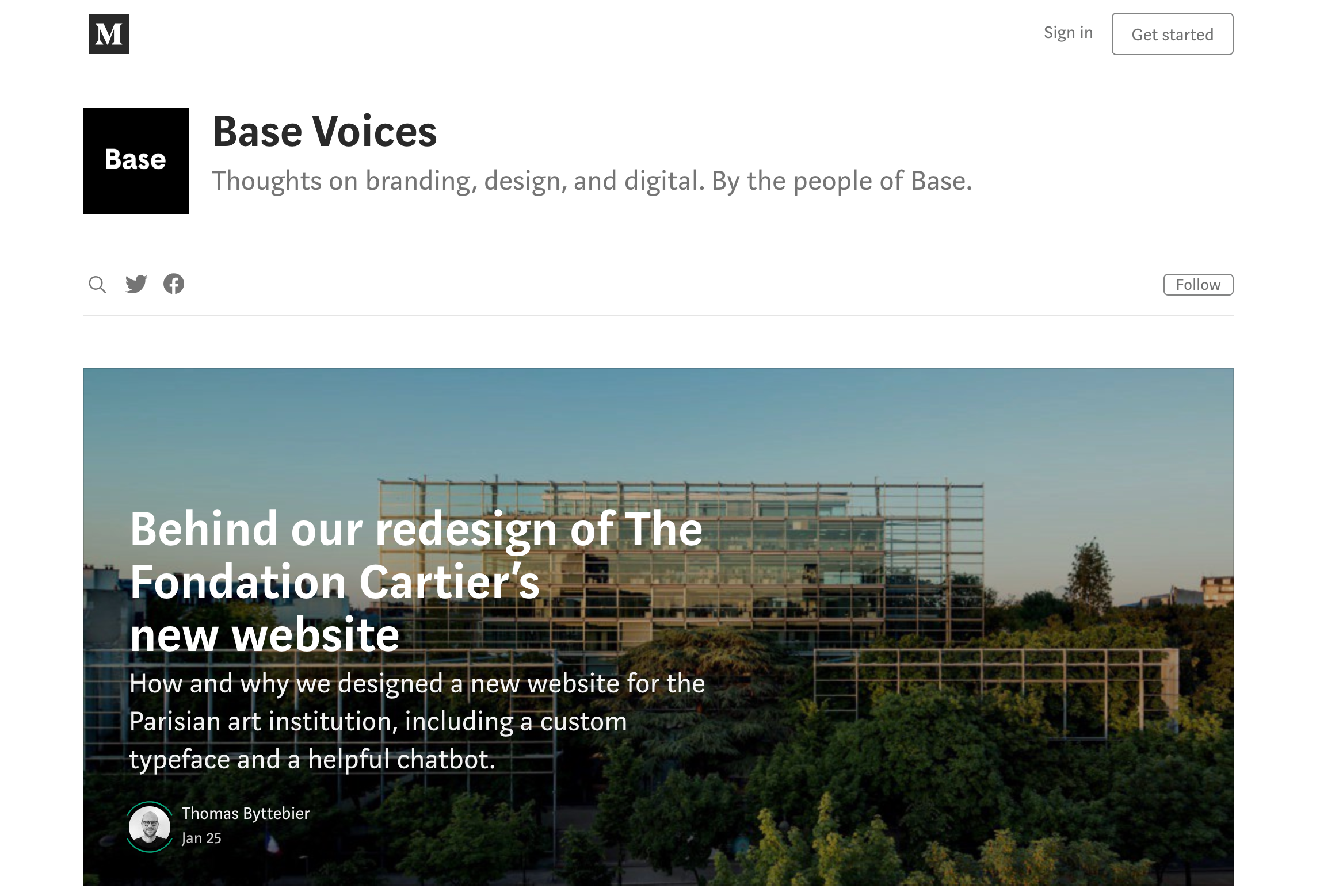 Base Design blog screenshot