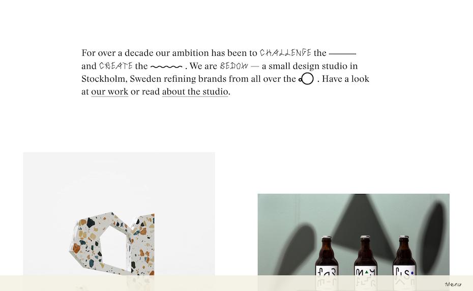 Bedow website screenshot