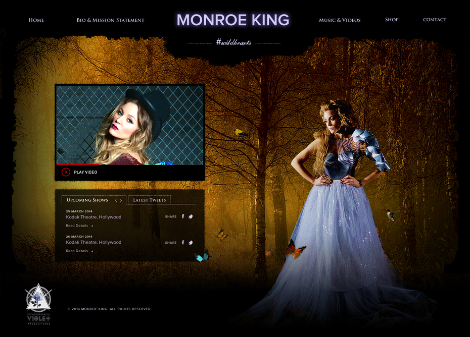 Monroe King web design