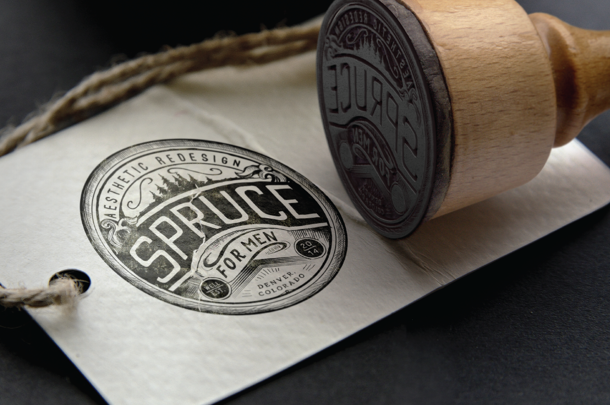 round Spruce for Men logo