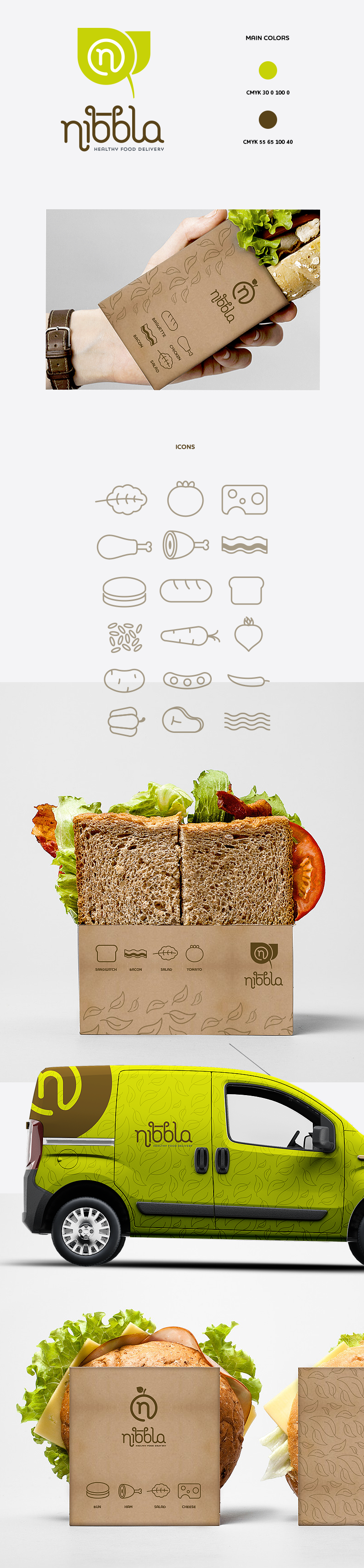 corporate identity for food brand