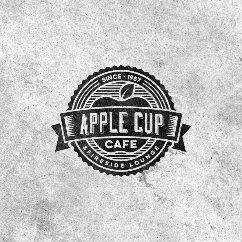 apple shape and text